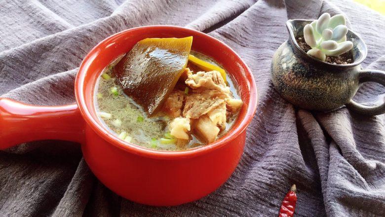 筒骨海带汤,成品图。!