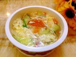 西红柿蛋花汤,9.清淡又营养的蛋花汤做好了