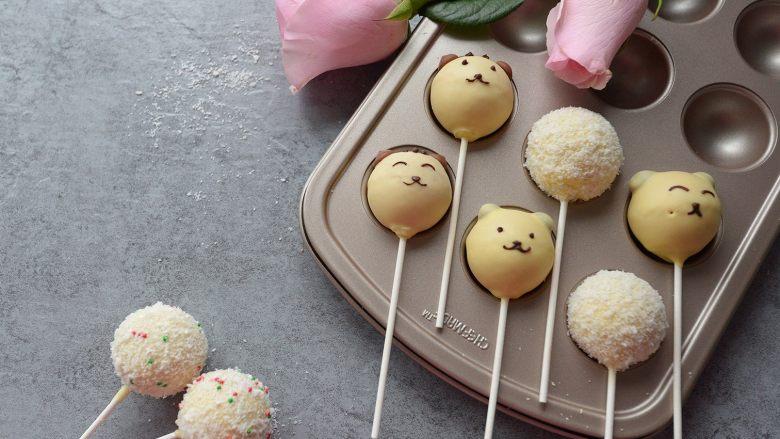 萌萌哒动物棒棒糖蛋糕