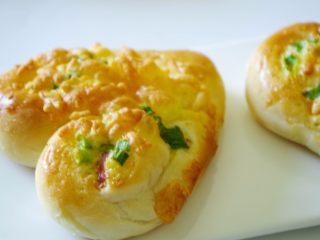 香葱芝士心形餐包,敲好吃的早餐包