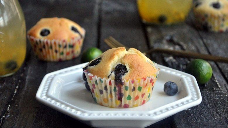 蓝莓爆浆麦芬蛋糕