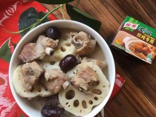【排骨炖藕】滋补润燥,出锅享用吧