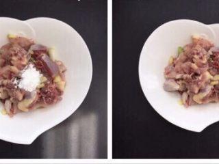 辣子鸡~香喷喷火辣辣,生粉小半汤匙搅拌均匀腌制30分钟左右入味