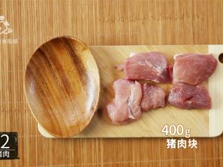 两分钟学会黑椒烤肉,抗饿一整天的营养大菜,预备适量猪肉块