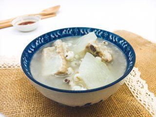 冬瓜薏仁排骨汤,成品图