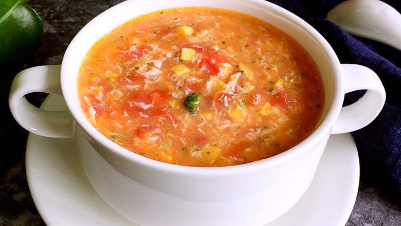 番茄浓汤,成品