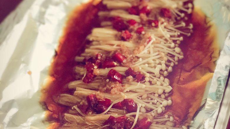 锡纸金针菇,方便,快捷,营养,好吃
