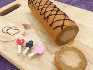 摩卡咖啡戚风蛋糕卷