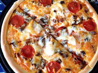 十寸鲜虾牛肉披萨