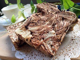 黑巧克力大理石吐司,可以切片可以手撕着吃,随君意