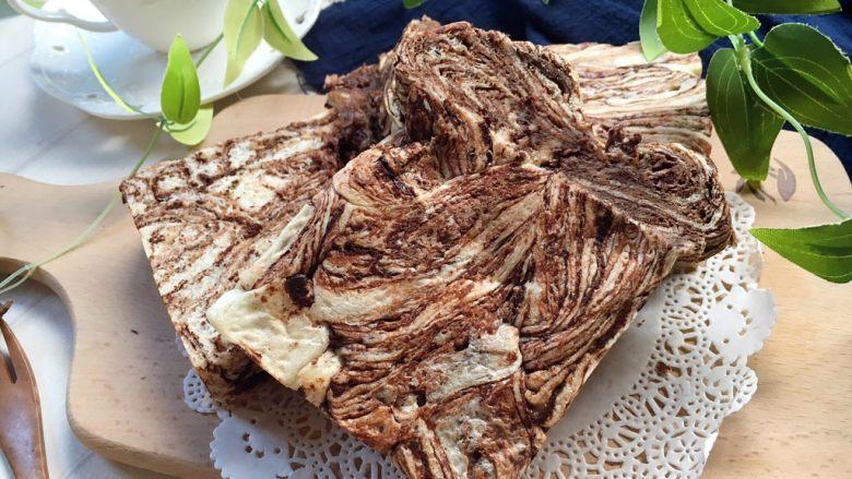 黑巧克力大理石吐司