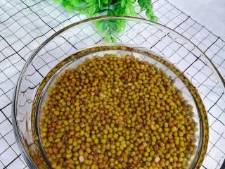 陈皮绿豆汤,绿豆清洗干净浸泡1小时