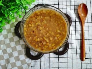 陈皮绿豆汤,粉粉的绿豆,淡淡的陈皮味,淡淡的甜