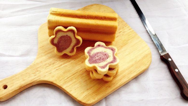 紫薯原味拼色梅花吐司(中种法)