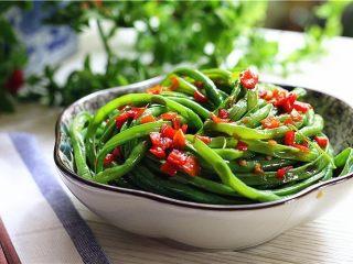 吃豇豆还用麻汁?快来试试这个--手撕豇豆,一盘开胃爽口的酸辣豇豆丝就做好了。