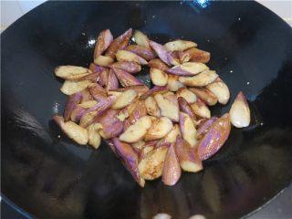 颜值超高的红烧蚝油紫茄子,尽量让每块茄子都沾上油