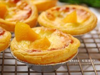 烘焙小白零失败的——黄桃蛋挞,出炉后稍凉就可以吃啦!