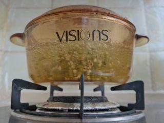 夏日消暑甜汤,大火煮开转小火 翻滚吧豆子