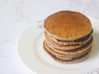 【燕麦香蕉Pancake】(素食低脂版),#以下几步都是小Tips#  (1) 这个量是1到2人份.我刚好做了6个。