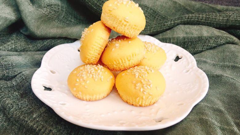超简单的白芝麻小蛋糕