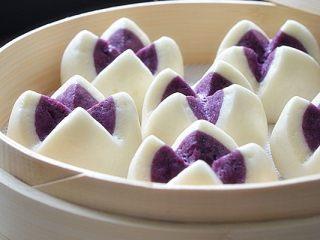 紫薯开花馒头,成品
