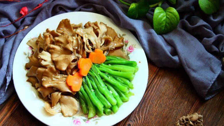 舞茸蚝油菜心