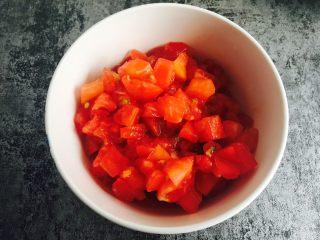 油泼辣子凉面,西红柿丁