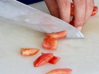 营养丰富德式烤猪排,切西红柿可以切的好看一点
