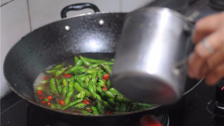 香辣盐水毛豆,水要没过毛豆