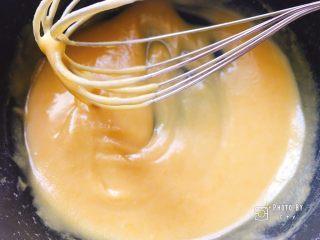 像海绵一样柔软的南瓜蛋糕,直到完全混匀,冷却备用。