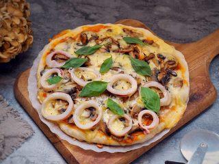 海陆双拼披萨,完成