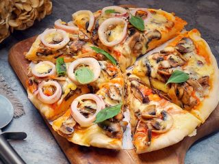 海陆双拼披萨,美味
