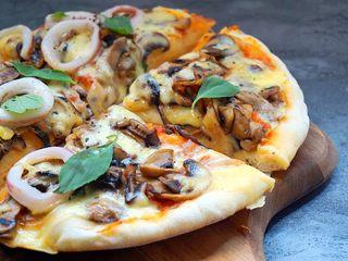 海陆双拼披萨,诱惑