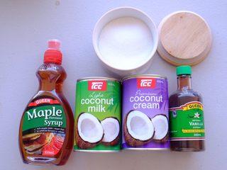 夏日彩虹沙拉配无乳糖椰奶冰激凌 [低碳水低脂],制作无生蛋版冰激凌 材料如上