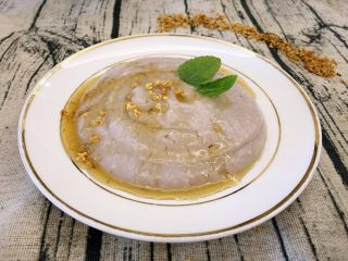 桂花芋泥,没进冰箱前的芋泥,可以直接这样拌着给小孩子吃。