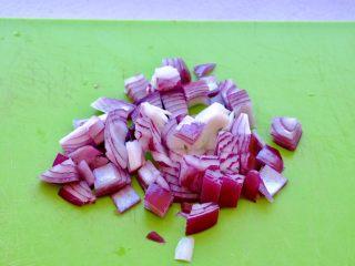 Meatloaf进阶版 (让同事流口水的带饭利器1),先把洋葱切丁,刀功好的可以切的小一点,这样拌肉糜的时候会比较均匀