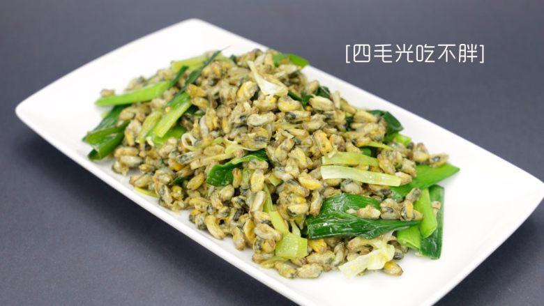 蒜炒海瓜子