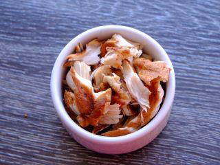 秘制异国风味鸡胸肉腌料&绝佳搭配 (减肥必备),第二种吃法 更有墨西哥风味 等鸡排放量以后 撕成小块状