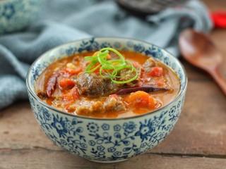 西红柿炖牛肉,成品图