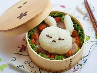兔子趣味便当,也可以换个兔子造型,或表情