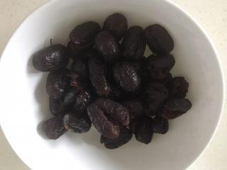 红枣豆沙,煮好的红枣