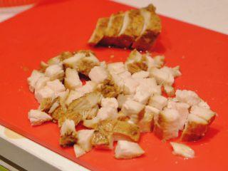 秘制异国风味鸡胸肉腌料&绝佳搭配 (减肥必备),煎洋葱时 将鸡肉切丁 越小越好