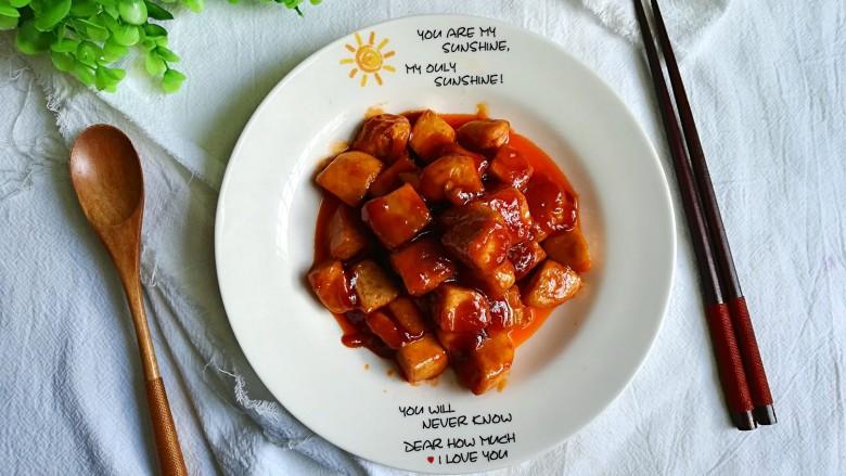 茄汁豆腐,出锅喽,豆腐香,番茄香,美味