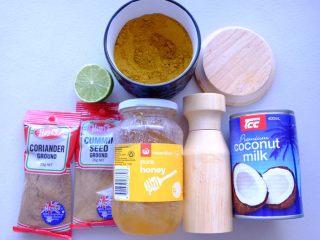 秘制异国风味鸡胸肉腌料&绝佳搭配 (减肥必备),印尼风味椰香咖喱的材料如上👆