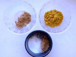 秘制异国风味鸡胸肉腌料&绝佳搭配 (减肥必备),按份量称取粉类材料 孜然粉 印度香菜粉 盐和咖喱 混合均匀