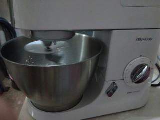 迷你巨无霸汉堡包~汉堡胚制作~,用厨师机min档搅拌一分钟