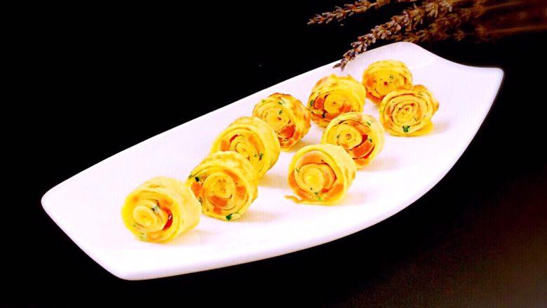 火腿蒜香鸡蛋卷