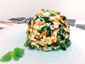 日式蔬菜拌豆腐