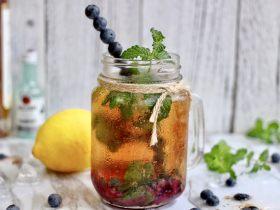 藍莓Mojito雞尾酒