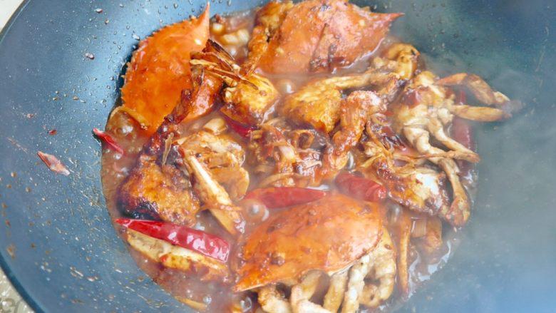 香辣螃蟹,收汁差不多了